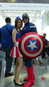 Captain America & friend